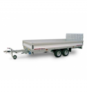 Carrello rimorchio trasporto cose con rampe di salita PT25