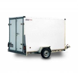 Carrello rimorchio trasporto cose con rampe di salita 750F standard