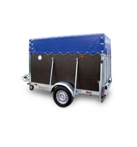 Carrello rimorchio trasporto cose con rampe di salita 750T
