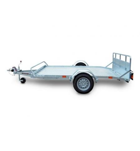 Carrello rimorchio trasporto cose con rampe di salita PT7/L