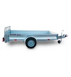 Carrello rimorchio trasporto cose con rampe di salita PT7C/L