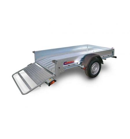 Carrello rimorchio trasporto cose con rampe di salita PT7C