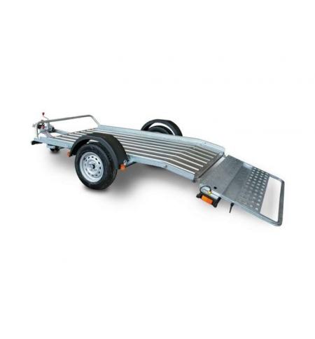 Carrello rimorchio trasporto cose con rampe di salita PT7