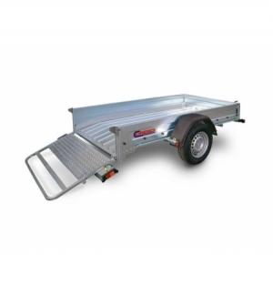 Carrello rimorchio trasporto cose con rampe di salita PT7CE