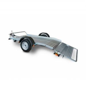 Carrello rimorchio trasporto cose con rampe di salita PT7E