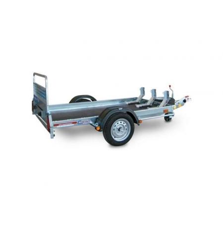 Carrello rimorchio trasporto cose con rampe di salita PT6