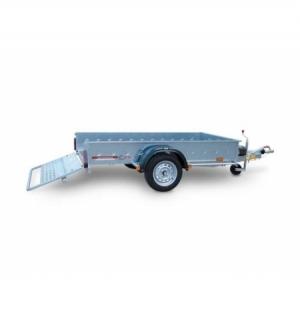 Carrello rimorchio trasporto cose con rampe di salita PT6C