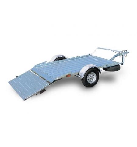 Carrello rimorchio trasporto cose con rampe di salita PT4 S.F. senza freni