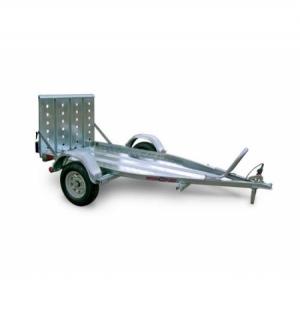 Carrello rimorchio trasporto cose con rampe di salita PT1 senza freni