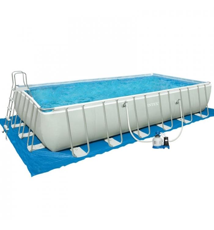 piscina intex ultra frame 7 32 x 3 66 h 1 32 m vannucchi. Black Bedroom Furniture Sets. Home Design Ideas